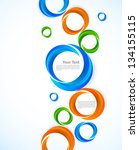 background with colorful circles | Shutterstock .eps vector #134155115