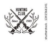 hunting club labels  badges ...   Shutterstock .eps vector #1341566141