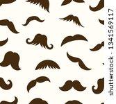 moustache seamless pattern   Shutterstock .eps vector #1341569117