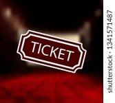 ticket icon mono color icon ....