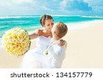 Wedding On Beach  Focus On Eye...