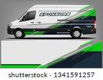 van wrap livery design. ready... | Shutterstock .eps vector #1341591257