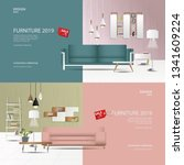 2 banner 2 tone furniture sale... | Shutterstock .eps vector #1341609224