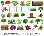 set of nature element... | Shutterstock .eps vector #1341612941