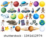 set of space decor element... | Shutterstock .eps vector #1341612974