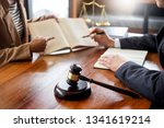 lawyer in office. counseling...   Shutterstock . vector #1341619214