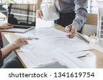hands of architect or engineer... | Shutterstock . vector #1341619754