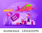 low cost flights  budget air... | Shutterstock .eps vector #1341623294