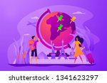 traveling the world  worldwide... | Shutterstock .eps vector #1341623297