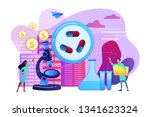 tiny people scientists in the... | Shutterstock .eps vector #1341623324