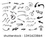 vector doodle arrows set... | Shutterstock .eps vector #1341623864