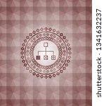 flowchart icon inside red...   Shutterstock .eps vector #1341632237