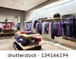 interior of brand new fashion... | Shutterstock . vector #134166194
