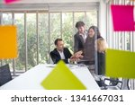 business people putting their... | Shutterstock . vector #1341667031