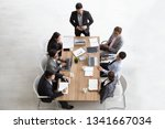 top view of group of... | Shutterstock . vector #1341667034