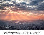before the rain  sunbeam and... | Shutterstock . vector #1341683414