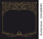 gold rococo ornament. retro... | Shutterstock .eps vector #1341688481