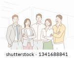 successful company with happy... | Shutterstock .eps vector #1341688841