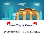travelling in vietnamcard  the... | Shutterstock .eps vector #1341689837