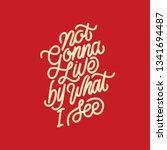 handlettering typography not... | Shutterstock .eps vector #1341694487