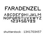 trendy font. minimalistic style ... | Shutterstock .eps vector #1341703457