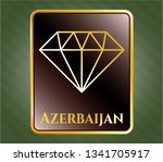 gold badge with diamond icon... | Shutterstock .eps vector #1341705917