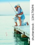 Fishing   Girl With Father...