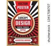 vertical art poster template in ...   Shutterstock .eps vector #1341708707