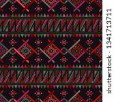 boho seamless pattern with... | Shutterstock . vector #1341713711