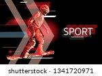 modern poster for sports.... | Shutterstock .eps vector #1341720971