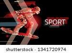 modern poster for sports.... | Shutterstock .eps vector #1341720974