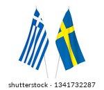 national fabric flags of greece ... | Shutterstock . vector #1341732287