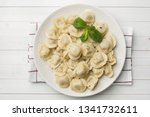 dumplings stuffed with meat ... | Shutterstock . vector #1341732611
