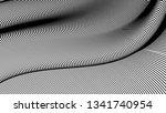 vector 3d striped waves....   Shutterstock .eps vector #1341740954