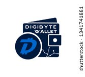 digibyte wallet logo graphic.... | Shutterstock .eps vector #1341741881