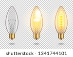 set of realistic transparent...   Shutterstock .eps vector #1341744101