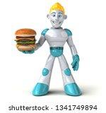 robot   3d illustration | Shutterstock . vector #1341749894
