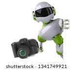 green robot   3d illustration | Shutterstock . vector #1341749921
