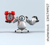 big robot   3d illustration | Shutterstock . vector #1341749927