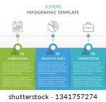infographic template with 3... | Shutterstock .eps vector #1341757274