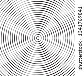 black and white concentric line ... | Shutterstock .eps vector #1341769841