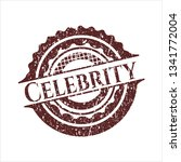 red celebrity distressed rubber ... | Shutterstock .eps vector #1341772004