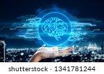 hand holding creative circuit... | Shutterstock . vector #1341781244