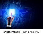 hand pointing at creative... | Shutterstock . vector #1341781247
