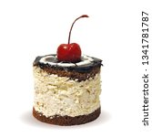 cupcake  fairy cake with cherry....   Shutterstock .eps vector #1341781787