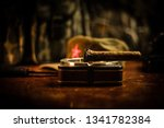 close up of a cuban cigar and... | Shutterstock . vector #1341782384