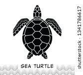 sea turtle icon. design animal... | Shutterstock .eps vector #1341786617