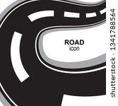road  way or highway...   Shutterstock .eps vector #1341788564