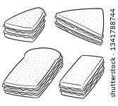 vector set of sandwich | Shutterstock .eps vector #1341788744