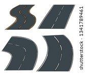vector set of road   Shutterstock .eps vector #1341789461